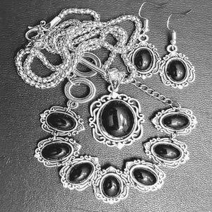 """Jewelry - 22"""" SILVER CHAIN ~ 7"""" BRACELET ~ EARRINGS"""